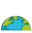 world eart globe isolated vector image