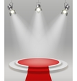 Realistic Stage With Spotlights vector image
