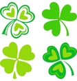 Isolated green Irish shamrocks vector image