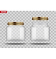 Set of Glass Jars for canning vector image