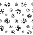 Spiral monochrome seamless texture vector image
