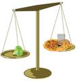 healthy food scales vector image