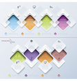 Abstract modern template infographics process vector image vector image