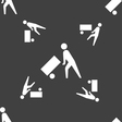 Loader icon sign Seamless pattern on a gray vector image