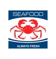 Atlantic snow crab icon for seafood bar design vector image vector image