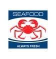 Atlantic snow crab icon for seafood bar design vector image