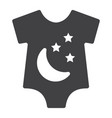 Baby romper solid icon baby clothes and kid vector image