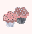 flat shading style icon cupcakes vector image