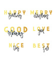 Inscriptions handmade calligraphy lettering vector image