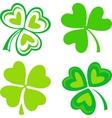 Isolated green Irish shamrocks vector image