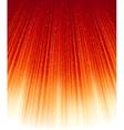 Magic stars on rays of red golden light vector image