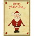 Merry Christmas card with Santa vector image