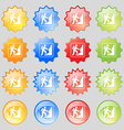 rock climbing icon sign Big set of 16 colorful vector image