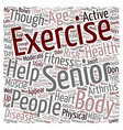 Health And Fitness For People Above text vector image
