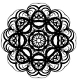 Beautiful lace pattern The circular background vector image vector image