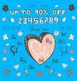 cartoon big sale set make your own sale banner vector image