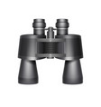 black travel binoculars vector image