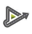Triangle road symbol vector image vector image