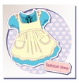 Dress for girls vector image vector image