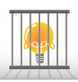 Yellow Bulb in a cage vector image