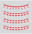 austrian bunting vector image vector image