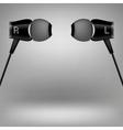 Grey Headphones vector image vector image