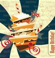happy birthday vintage vector image vector image