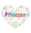 princess greeting card vector image