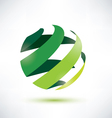 abctract green globe icon ecology and nature conce vector image