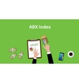 abx index with business man working vector image