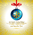 Christmas ball Christmas tree decorations blue vector image