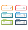 Infographic Elements - Six Steps vector image