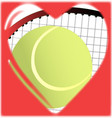 Love tennis vector image