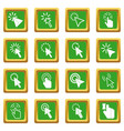 Mouse pointer icons set green vector image