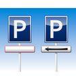 Parking traffic board vector image
