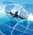 Plane background vector image
