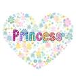 princess greeting card vector image