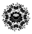 russian inspired folk art pattern - black vector image
