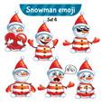 set of cute snowman characters set 4 vector image