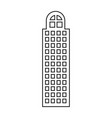 silhouette of building skyscraper with cusp window vector image