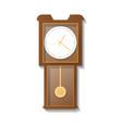 vintage wooden pendulum clock icon vector image