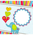 scrapbook elephant card template vector image vector image