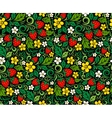 Strawberry pattern in traditional russian style vector image vector image