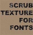 Scrub texture vector image vector image