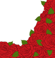 White background for a card decorated with roses vector image vector image
