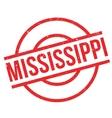 Mississippi rubber stamp vector image