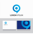 logo company card target vector image vector image
