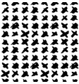 cross hand drawn seamless pattern vector image