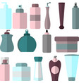 set of flat style cosmetic bottles different vector image