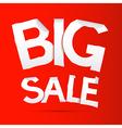Big Sale Sticker - Label on Red background vector image vector image